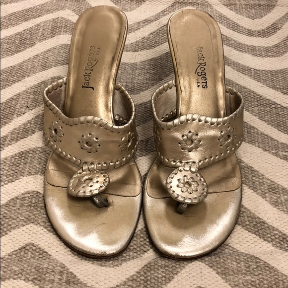 Jack Rogers Shoes - Jack Rogers Champagne Wedges